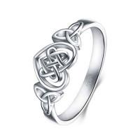 OLIVIE Stříbrný prstýnek SRDÍČKO 4497 Velikost prstenů: 8 (EU: 57 - 58)