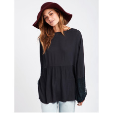 Billabong SAND LACE black dámské tričko s dlouhým rukávem - S