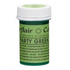 Sugarflair Gelová barva potravinářská Plesově zelená (party green) 25g
