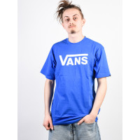 Vans CLASSIC ROYAL/WHITE pánské tričko s krátkým rukávem - XL