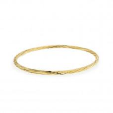 OLIVIE Stříbrný kulatý GOLD náramek 4673