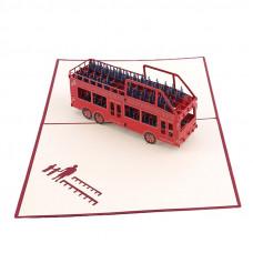 3D přání Červený autobus