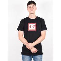 Dc SQUARE STAR 2 black pánské tričko s krátkým rukávem - XL