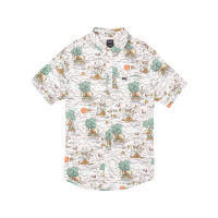 RVCA CEDDIA ROSEWATER pánská košile krátký rukáv - M