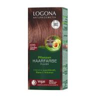 LOGONA Rostlinná barva na vlasy – OŘECHOVĚ HNĚDÁ