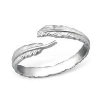 OLIVIE Stříbrný prsten LÍSTEK 0682 Velikost prstenů: 7 (EU: 54 - 56)