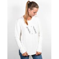 RVCA VA PALM Vintage White dámské tričko s dlouhým rukávem - S