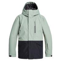 Quiksilver MISSION AGAVE GREEN dětské zimní bundy na snowboard - 14/XL