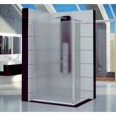 SanSwiss FUD2 0800 50 44 Pevná stěna s krátkou otočnou stěnou 80 cm, aluchrom/cristal perly