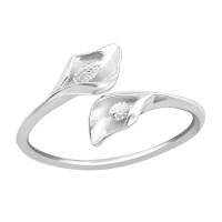 OLIVIE Stříbrný prsten KALA 2478 Velikost prstenů: 8 (EU: 57 - 58)