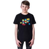 Horsefeathers BRICKS black dětské tričko s krátkým rukávem - S