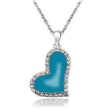Náhrdelník Srdíčko - 4 barvy Barva: Modrá