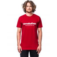 Horsefeathers QUARTER LAVA RED pánské tričko s krátkým rukávem - L