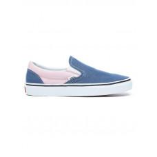 Vans CLASSIC SLIP-ON V VINTAGE INDIGO/CHALK PINK dámské letní boty - 40,5EUR