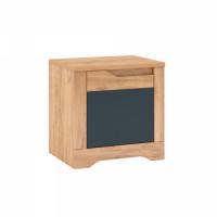 Noční stolek FIDEL X1 dub craft zlatý/grafit šedá, levá - TempoKondela