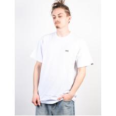Vans LEFT CHEST LOGO white/black pánské tričko s krátkým rukávem - S