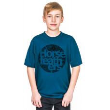 Horsefeathers BOUT KIDS blue dětské tričko s krátkým rukávem - M
