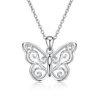 OLIVIE Stříbrný náhrdelník MOTÝL 4686