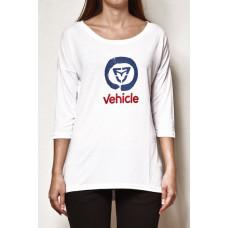 Vehicle FEELA white dámské tričko s dlouhým rukávem - M
