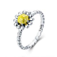 OLIVIE Stříbrný prsten SLUNEČNÝ KVĚT 2947 Velikost prstenů: 6 (EU: 51 - 53)