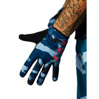Fox Ranger blue camo cyklistické rukavice - XL