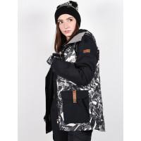 Roxy ANDIE OYSTER GRAY HAWAIIAN PALM LEAF zimní bunda dámská - L