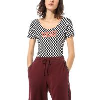 Vans CHECK V II CHECKERBOARD/PAPRIKA dámské tričko s krátkým rukávem - M