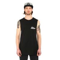 Horsefeathers FLASH black pánské bavlněné tílko - M
