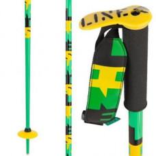 Freeski hůlky LINE Pin green 15/16 Délka hůlek: 100cm