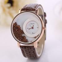 Dámské přesýpací modní hodinky- 4 barvy Barva: Hnědá