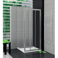SanSwiss TOE3D 0700 50 07 Pravý díl sprchového koutu 70 cm, aluchrom/sklo
