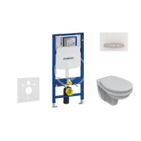 Geberit Sada pro závěsné WC + klozet a sedátko Ideal Standard Quarzo - sada s tlačítkem Sigma50, výplň bílá 111.300.00.5 NR8