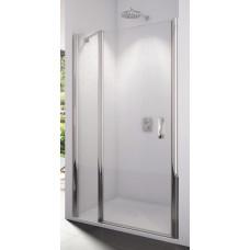 SanSwiss SL13 0900 50 44 Sprchové dveře jednokřídlé s pevnou stěnou 90 cm, aluchrom/cristal perly