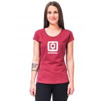 Horsefeathers ELEONOR garnet rose dámské tričko s krátkým rukávem - XL
