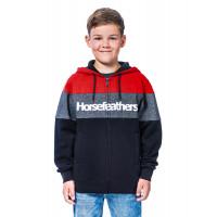 Horsefeathers TREVOR RED dětská mikina - XL