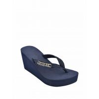 GUESS pantofle Serina Denim Charm Wedge Sandals navy vel. 42