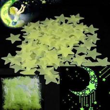 Svítící fosforové zelené hvězdičky 100 ks