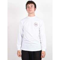 Vans CHECKER 66 white pánské tričko s dlouhým rukávem - M