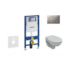 Geberit Sada pro závěsné WC + klozet a sedátko Ideal Standard Quarzo - sada s tlačítkem Sigma01, matný chrom 111.300.00.5 NR3