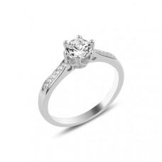 OLIVIE Stříbrný zásnubní prsten 3355 Velikost prstenů: 7 (EU: 54 - 56)