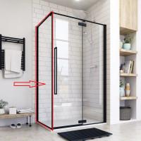 Aquatek JAGUAR F1 90 pevná boční stěna do kombinace s dveřmi, 87-90 cm, sklo 8mm