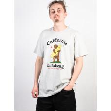 Billabong GOLDEN STATE LT GREY HEATHER pánské tričko s krátkým rukávem - L