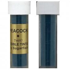 Sugarflair Jedlá prachová barva, 7 ml, Peacock (petrolejová)