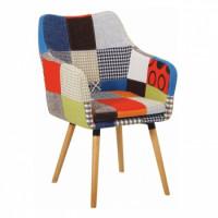 jídelní židle LANDOR barevný patchwork - TempoKondela