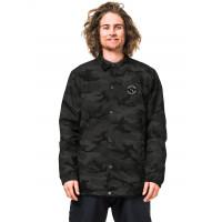 Horsefeathers RUGGED black camo zimní bunda pánská - XL