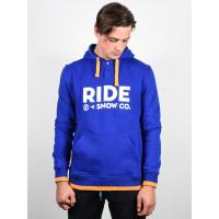 Ride Logo Henley DARK COBALT pánská mikina - S