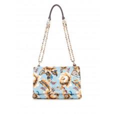 GUESS kabelka Melise Quilted Floral Crossbody modrá vel.