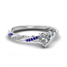 OLIVIE Stříbrný prsten se srdíčkem 2971 Velikost prstenů: 6 (EU: 51 - 53)