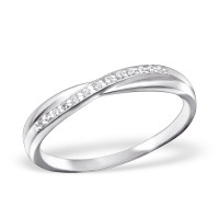 OLIVIE Stříbrný prsten se zirkony 0668 Velikost prstenů: 7 (EU: 54 - 56)