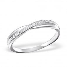OLIVIE Stříbrný prsten se zirkony 0668 Velikost prstenů: 6 (EU: 51 - 53)